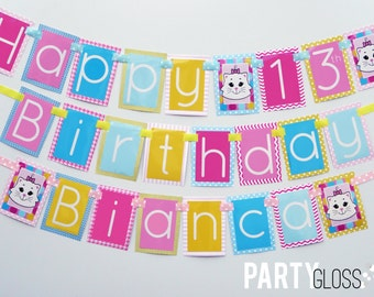 Kitty Birthday Party Banner Decorations Fully Assembled