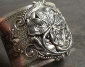 Irish Jewelry Silver Four Leaf Clover Good Luck Bracelet Shamrock