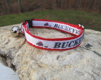 Ohio State Buckeyes Cat or Small Dog Collar