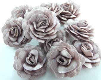 10 pcs Satin Roses  Mini Flowers... Fabric flowers