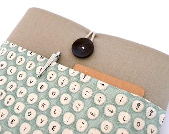 iPad Case, iPad Air, iPad Pro, iPad Pro Case, iPad Pro Sleeve, Custom Tablet Cover with Pocket - Typewriter