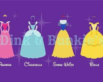 Princess Printables - Inspired by Belle, Aurora, Cinderella, Snow White
