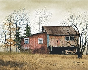 Barn,Tractor Barn,Barn,Country Artwork,Primitive,Wooden Plaque,Billy Jacobs,16x12
