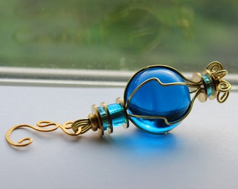 Royal Blue Small Suncatcher Glass Outdoor Ornament