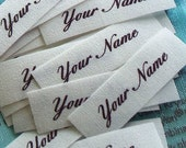 Multiple Quantities for 1/2  x 1 Inch Custom Fabric Labels