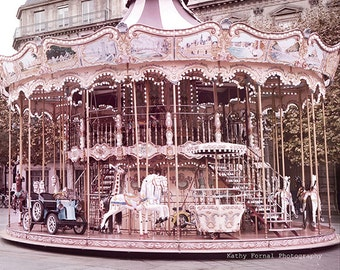 Paris Carousel Photography, Paris Merry-Go-Round, Paris Photography, Paris Carousel Prints, Paris Hotel DeVille Carousel, Paris Carousel Art