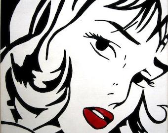 retro pop art '60's girl