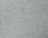 Grey Herringbone - Hand Felted Wool Fabric - Felted Wool Fabric- 100% Wool