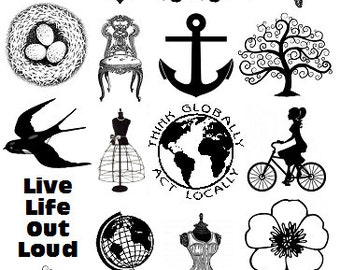 Sepia Decals for Glass Fusing 23 Fusible Glass Decals Misc 3.3.15