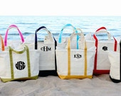 8 Personalized Bridesmaid Gift Medium Canvas Totes, Bags