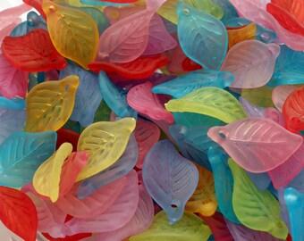 Acrylic Leaf Charm (25)