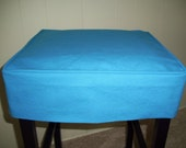 Square Barstool Slipcover Turquoise Canvas Bar Stool Cover Washable Slipcover