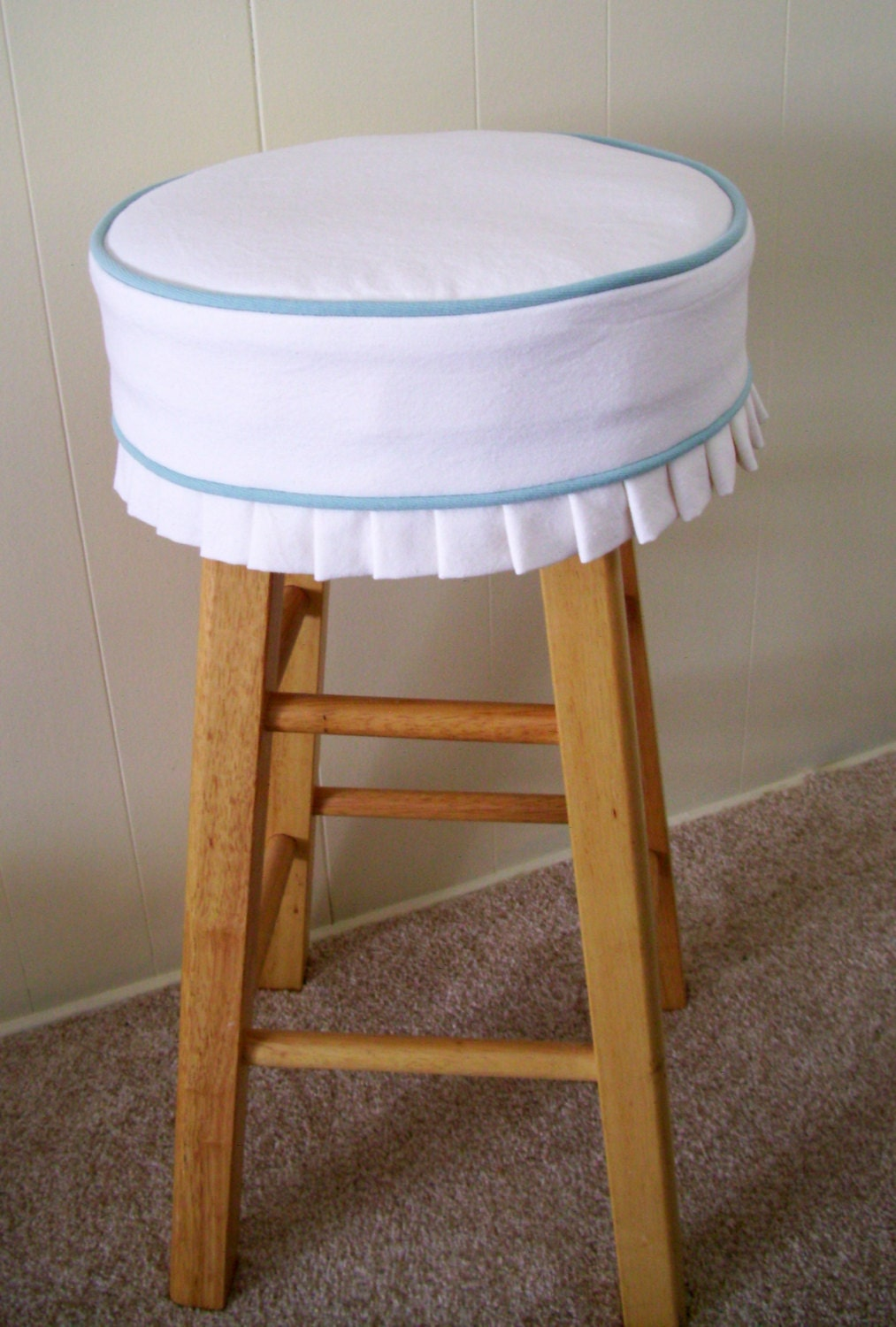 Bar Stool Slipcover and Cushion White with Blue Welt Barstool : ilfullxfull686447797l332 from www.etsy.com size 1013 x 1500 jpeg 307kB