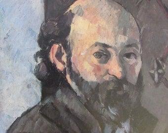 Paul Cezanne, Self-Portrait, Color Plate of 1880 Oil on Canvas, Unframed Book Page Fine Art Print