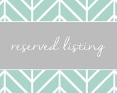 Reserved Listing for Whitney