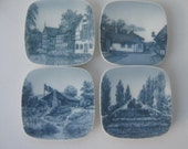 Vintage Dishes Scandinavian Denmark Souvenir Porcelain Wall Hanging