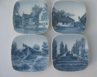 Vintage Dishes Scandinavian Denmark Souvenir Porcelain Wall Hanging