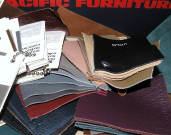 Mid Century PACIFIC FURNITURE Interior Designers Leather Samples and box