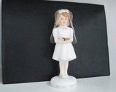 Vintage Collectible Figurine First Communion Girl Malco