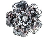 Flower Drawer Knobs with Petals and Crystal Center (MK135)