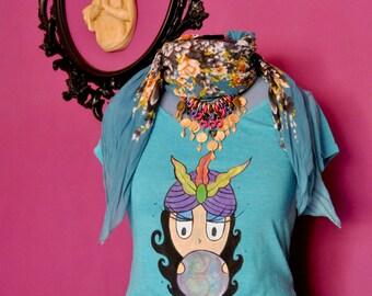 Fortune-teller Handpainted T-Shirt