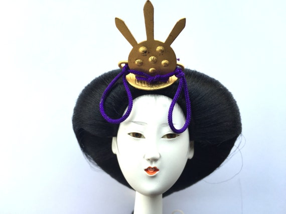 Woman Doll Head - Japanese Doll - Hina Ningyo - Hina Matsuri - Girl Head - Body Part - Doll Parts - Queen - L Size - D4-45