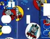 Thomas the Tank Engine Light Switch Plate, Outlet Cover, Phone, Cable, Blank - Your Choice - Mix and Match