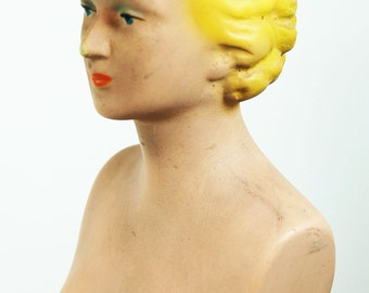 1940's Rubberlite Store Counter Display Mannequin