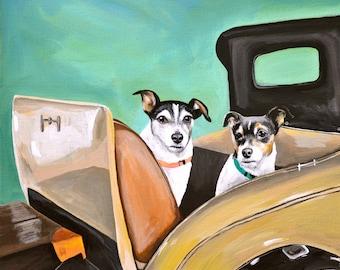 truck pigs dog custom pet portrait using your own Pet