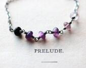 Pink Bracelet Silver Bracelet Sterling Silver Bracelet Gemstone Jewelry - Violette - Layered Stacking Bracelet Valentine's Day Gift For Her