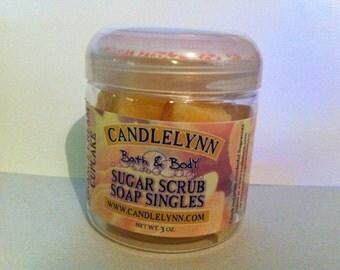 Sugar Scrub Soap Singles - ORANGE CrEaM CUPCAKE - 3 oz