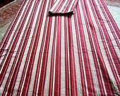 Gorgeous Rich QUALITY Curtains Drapes 2 Large Panels Lined Satiny Stripe Red Gold