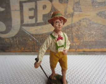 Antique Swiss Boy Elastolin Figure