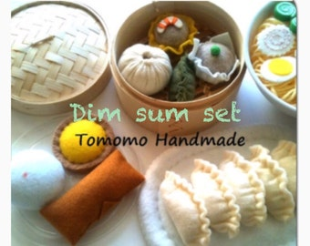 Etsy  Pretend  Felt food- Play food Dim sum set