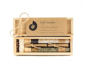 Organic & All Natural Herbal Bath Salt Test Tubes. (Assorted Bath Affirmations) Wedding, Hostess, Maid of honor, Eco, Spa, Luxury gift