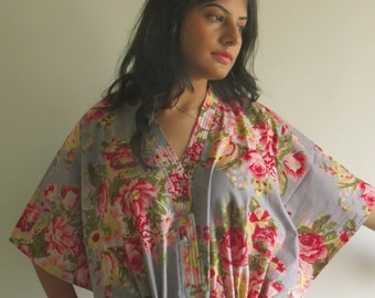 Gray Nursing Maternity Hosptial Gown Delivery Kaftan Perfect loungewear,as getting ready, beachwear gift for moms and to be moms