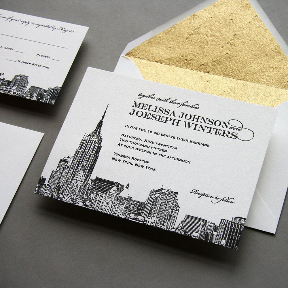 letterpress wedding invitations new york city - 28 images - v223 our ...