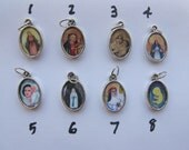 Holy Medal - Catholic Jewelry - Charms and Medals - Single or Double Sided- Silver Color - For Her