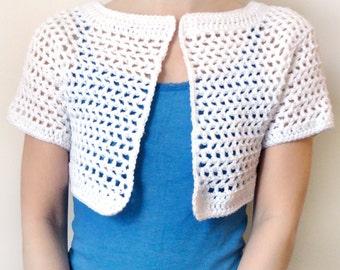 Mesh Bolero - 9 Sizes - PDF Crochet Pattern - Instant Download