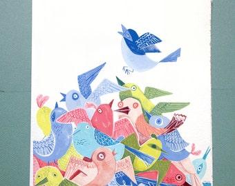 Birds Illustration Print