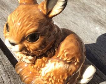 Goebel Rabbit figurine 1985 - hand- painted porcelain