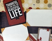 Scrapbooking Layouts Kit Premade Thankful Thanksgiving Turkey  2 Pages 12x12