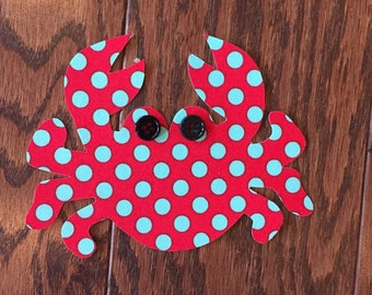 Crab Iron On Applique, You Choose Fabric