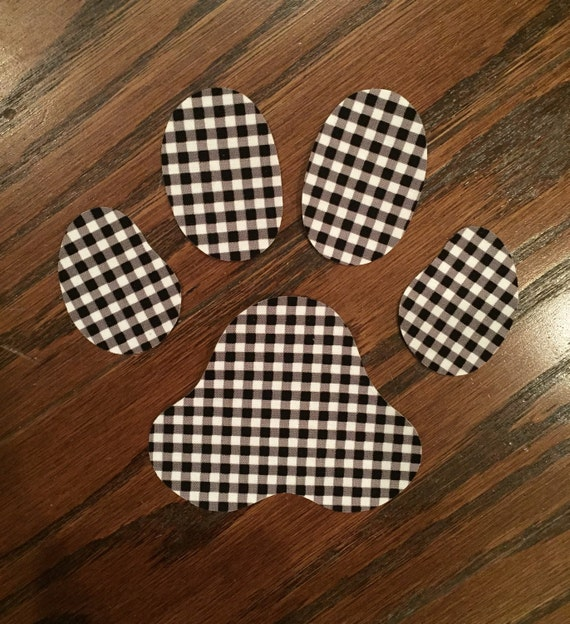 Paw Print Iron On Applique, You Choose Fabric