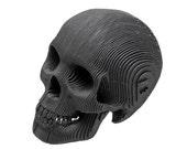 Micro Vince - Cardboard Human Skull - Black