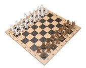 Cardboard 32 Cent Chess Set