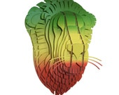 Leon the Cardboard Rasta Lion - Medium