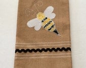BEE HAPPY Embroidered Kitchen / Hand Towel