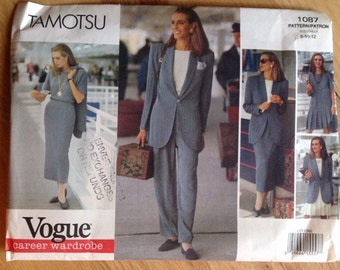 Uncut Vogue 1087 Tamotsu Career Wardrobe