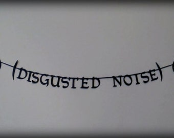 Disgusted Noise Dragon Age Letter Banner Garland